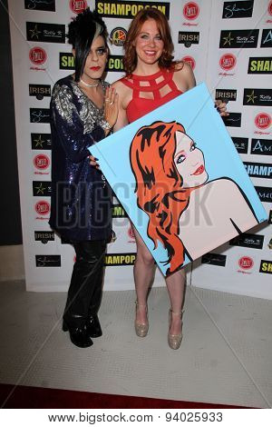 LOS ANGELES - JUN 4:  Maitland Ward, Sham Ibrahim at the Celebrity Selfies Art Show by Sham Ibrahim at the Sweet! Hollywood on June 4, 2015 in Los Angeles, CA