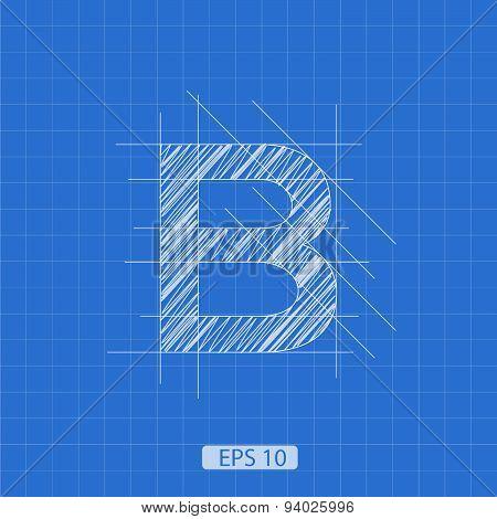 B letter architectural plan