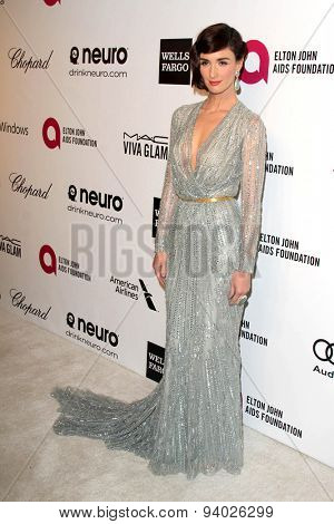 LOS ANGELES - MAR 3:  Paz Vega at the Elton John AIDS Foundation's Oscar Viewing Party at the West Hollywood Park on March 3, 2014 in West Hollywood, CA