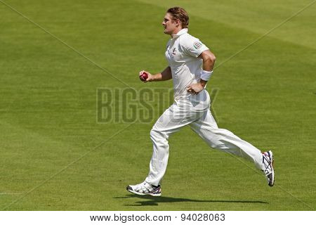 LONDON, ENGLAND - July 18 2013: Shane Watson on day one of the Investec Ashes 2nd test match, at Lords Cricket Ground on July 18, 2013 in London, England.