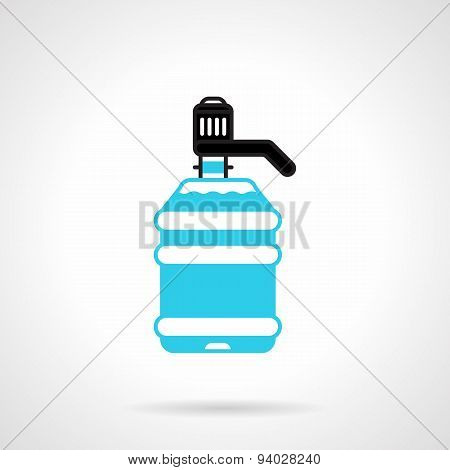 Water cooler bottle flat vector icon