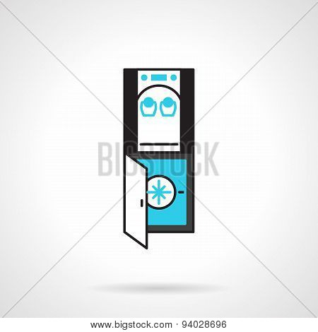 Office water dispenser black and blue vector icon