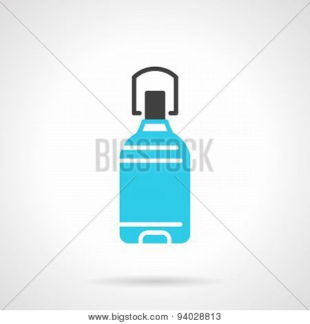 Potable water bottle blue vector icon
