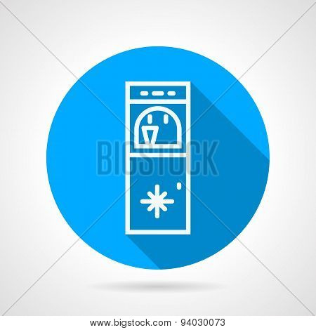 Ice water machine line vector icon