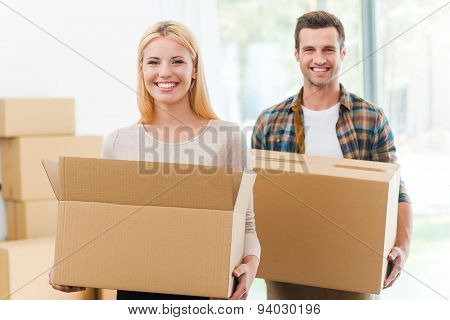 Moving To A New House Together.