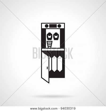 Water purifier monochrome vector icon