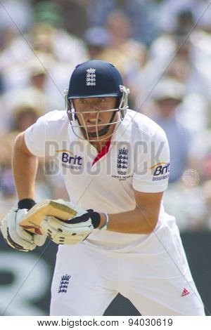 NOTTINGHAM, ENGLAND - July 12, 2013: England's Jonny Bairstow  during day three of the first Investec Ashes Test match at Trent Bridge Cricket Ground on July 12, 2013 in Nottingham, England.