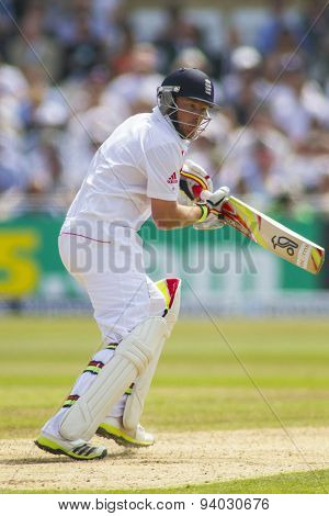 NOTTINGHAM, ENGLAND - July 12, 2013: England's Ian Bell during day three of the first Investec Ashes Test match at Trent Bridge Cricket Ground on July 12, 2013 in Nottingham, England.