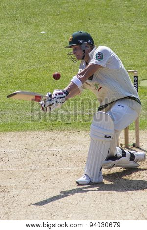 NOTTINGHAM, ENGLAND - July 11, 2013: Australia's Steven Smith during day two of the first Investec Ashes Test match at Trent Bridge Cricket Ground on July 11, 2013 in Nottingham, England.