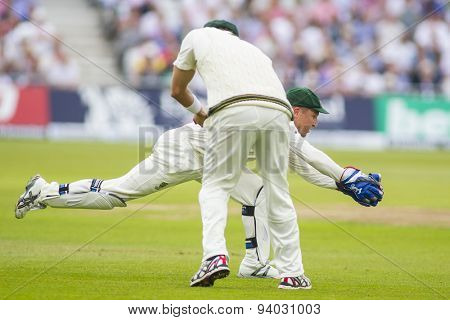 NOTTINGHAM, ENGLAND - July 10, 2013: Australia's Brad Haddin during day one of the first Investec Ashes Test match at Trent Bridge Cricket Ground on July 10, 2013 in Nottingham, England.