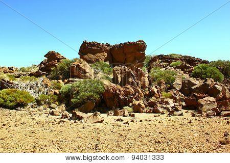 Rocks view near Teide volcano