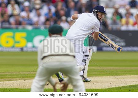 NOTTINGHAM, ENGLAND - July 10, 2013: England's Joe Root batting during day one of the first Investec Ashes Test match at Trent Bridge Cricket Ground on July 10, 2013 in Nottingham, England.