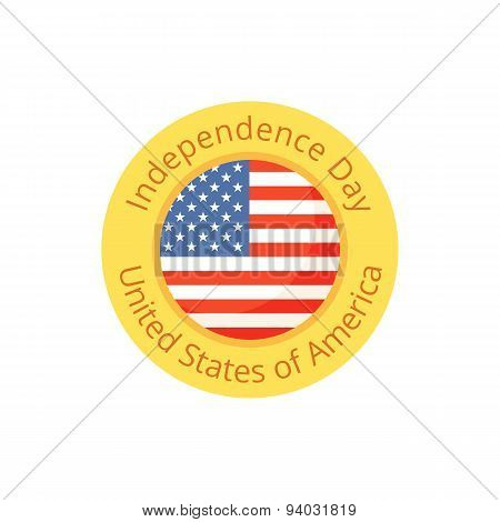 Badge For Independence Day And Fourth Of July