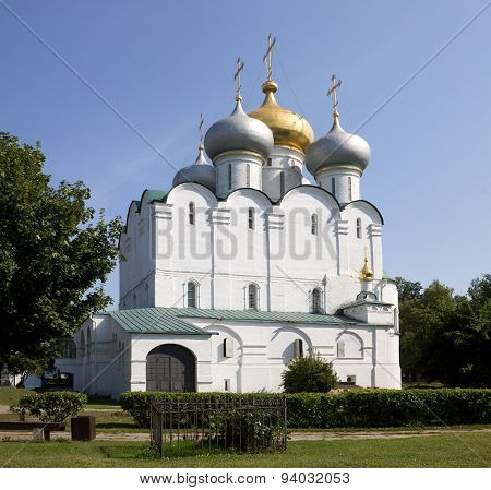 The Smolensky Cathedral In The Novodevichy Convent. Moscow, Russia