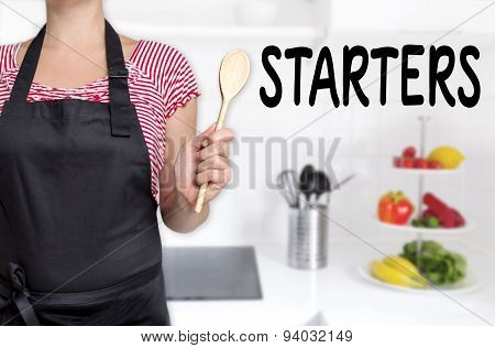 Starters Chef Holding Cooking Spoon Background