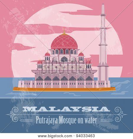 Malaysia. Retro styled image