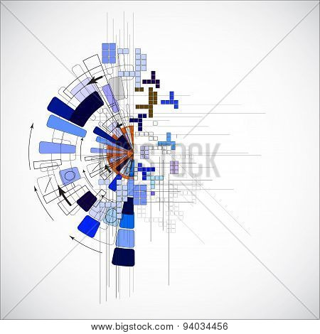 abstract futuristi computer technology business background