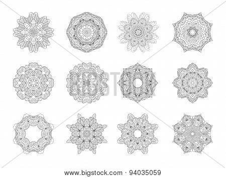 Round Ornament Pattern.