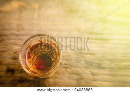 Alcoholic beverage - blurred style photo