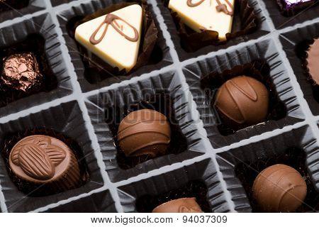 Box of chocolate truffle