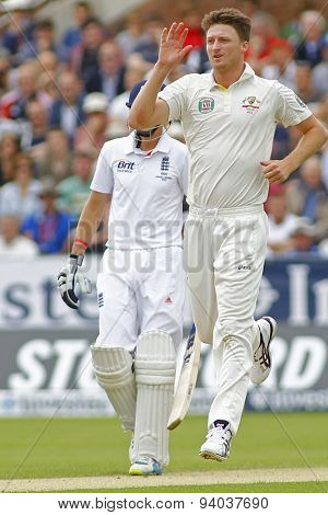 CHESTER LE STREET, ENGLAND - August 09 2013: Jackson Bird during day one of the Investec Ashes 4th test match at The Emirates Riverside Stadium, on August 09, 2013 in London, England.