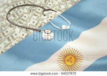 stethoscope against argentinian flag