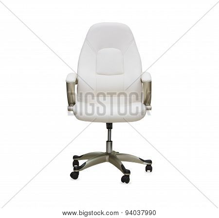 Office chair from white leather