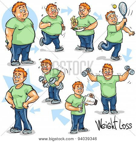 Man achieving his Weight-Loss goal.