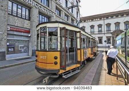 Milan Orange Cable Car