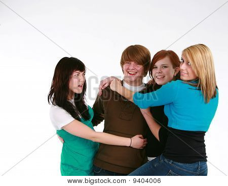 Teen Girls And Teen Boy