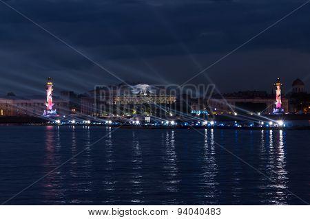 Laser Show On The Neva.