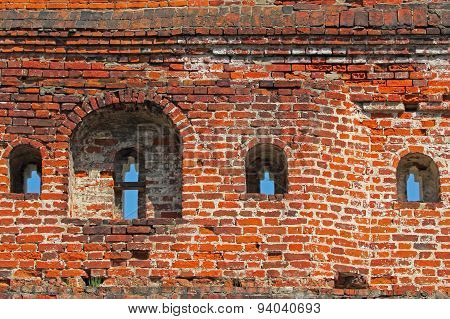 Old Grunge Brick Wall.