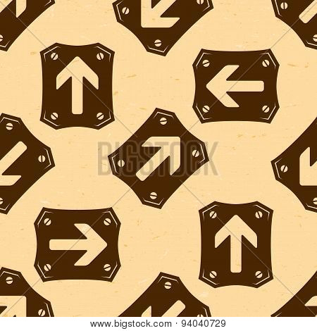 Seamless pattern with grungy arrows