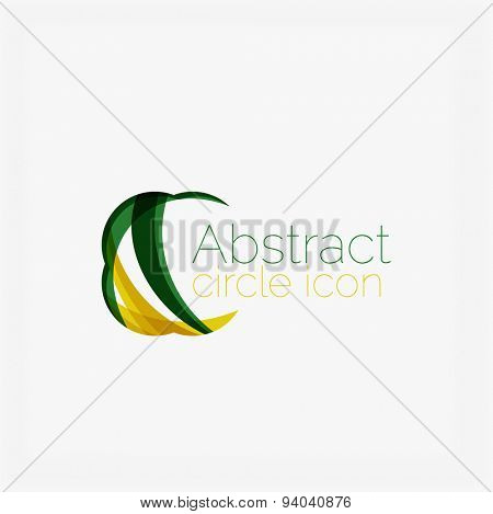Clean elegant circle shaped abstract geometric logo. Universal for any idea