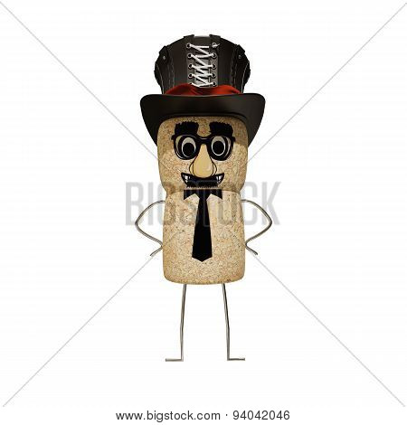 Cork Cap Man