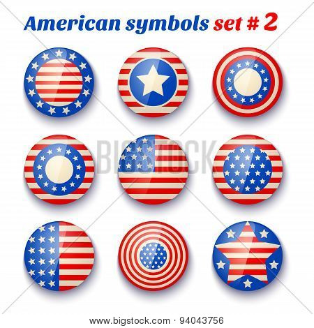 symbols of the USA fof 4th july