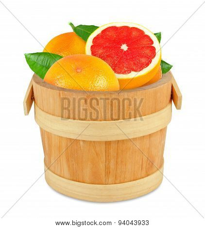 grapefruit in the bucket