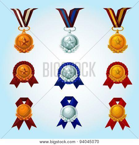 Medals Cartoon Set