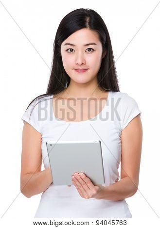 Woman use of digital tablet