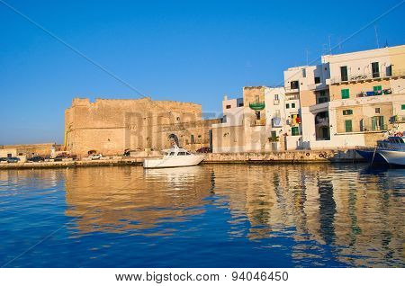 Old port of Monopoli. Puglia. Southern Italy.