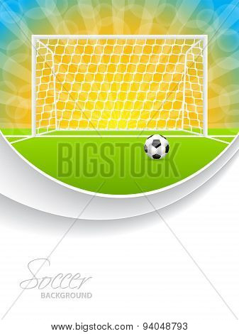Soccer Brochure With Ball Gate And Field