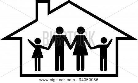 family home / house illustration