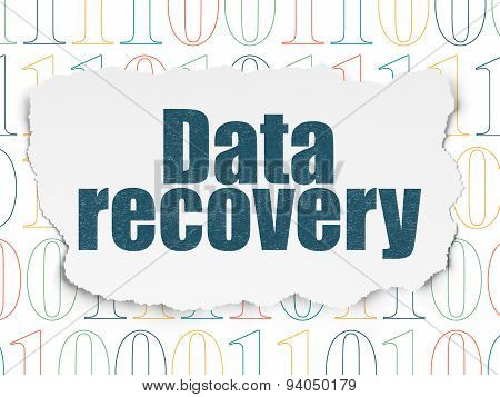 Information concept: Data Recovery on Torn Paper background
