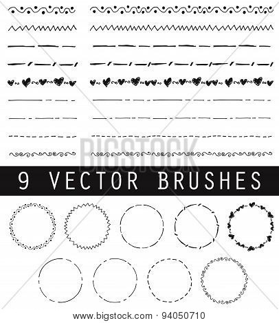 Collection of vector brushes