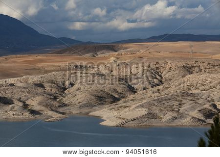 Mountainous Landscape, Mixture Of Earth And Rock