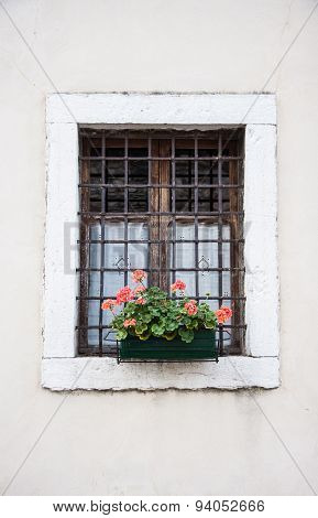 Old Window With Grating