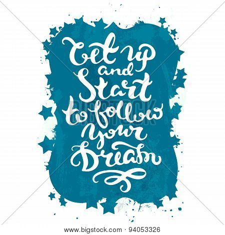 Motivational lettering poster