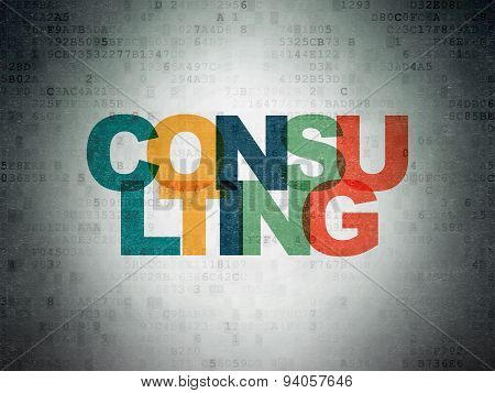 Business concept: Consulting on Digital Paper background