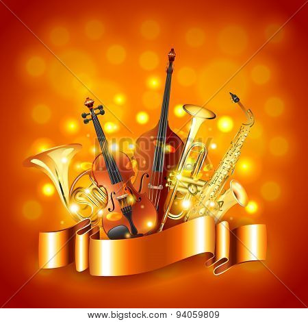 Musical Instruments Vector Background