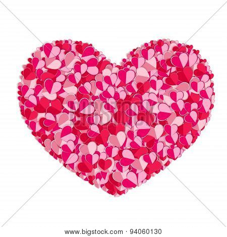 Valentines Composition Of The Hearts